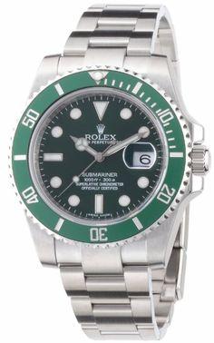 Rolex Submariner Green Dial Steel Mens Watch.