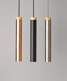 LEDlux Piper Large Dimmable Pendant in Brushed Chrome/Ash | Modern Pendants | Pendant Lights | Lighting