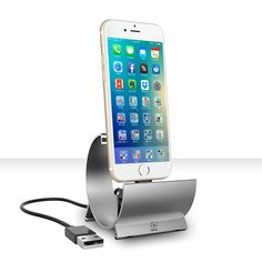 This iPhone 6 Charging Dock for iPhones and iPads transforms the way we think about charging our devices. Get your Charging Dock today! Cool Electronic Gadgets, Electronics Gadgets, Office Gadgets, Kitchen Gadgets, Ipads, Iphone 6, Cool Stuff, Tecnologia, Electronic Devices
