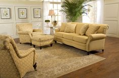 8000 Series Sectional Ottomans Corner And Pillows