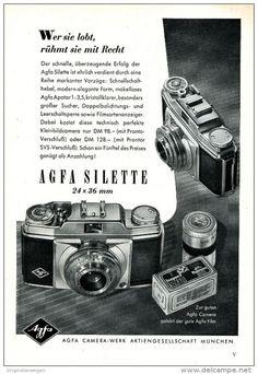 Original-Werbung/ Anzeige 1954 - AGFA SILETTE  KAMERA  - ca. 150 x 220 mm