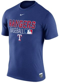 Don't leave any doubt about your love for the Texas Rangers with the Nike MLB men's Legend Team Issue T-shirt. The shirt has the league logo and team's graphics prominently displayed at front so everyone can see your passion. Crew neck Short sleeves Screen print team graphics at front Screen print league logo at back Screen print brand logo below collar Regular fit Polyester Machine washable