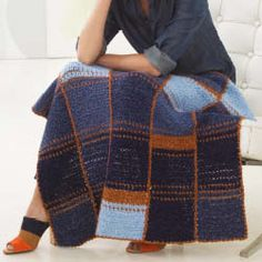 Lion Brand Jeans Afghan Project