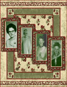4 Generations...heritage scrapbook page idea