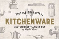 Graphic Design - Graphic Design Ideas  - 84 Kitchen Tools Vintage Engravings by Graphic Goods on Creative Market   Graphic Design Ideas :     – Picture :     – Description  84 Kitchen Tools Vintage Engravings by Graphic Goods on Creative Market  -Read More –