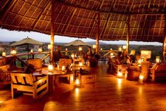 Tortilis Camp, Amboseli  National Park (Kenya). 'Fine Kilimanjaro  views from this ecolodge; the  family rooms are simply extraordinary.' http://www.lonelyplanet.com/kenya