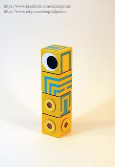 Baby Totem. Monument Valley Game figure. (The Totem's eye ISN'T magnetic.)