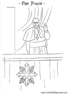 Habemus Papam! A coloring page for Pope Francis! | Catholic Playground