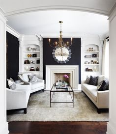 built in bookcases in the livingroom, love that idea.