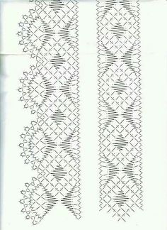 Arts And Crafts Hobbies Product Shawl Crochet, Hairpin Lace Crochet, Filet Crochet, Crochet Motif, Crochet Edgings, Bobbin Lace Patterns, Bead Loom Patterns, Hand Embroidery Patterns, Border Embroidery Designs
