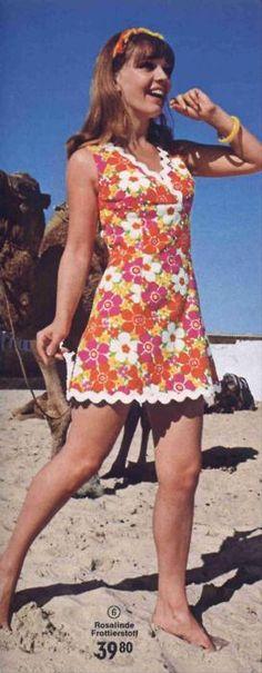 1970s Sun Dress with Rick Rack