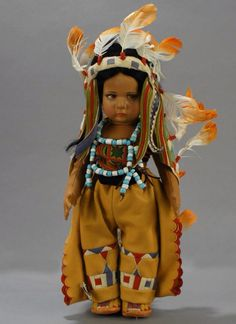 One of a kind Lenci Indian boy, series 300. Courtesy Grovian Doll Museum