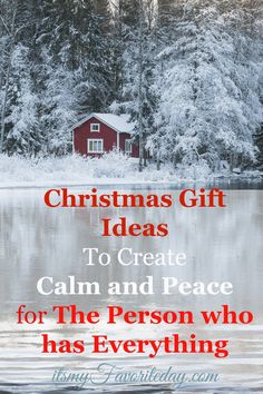 Looking for unique Christmas gift ideas for the person who has everything.  Great ideas for gifts that create an atmosphere of calm and peace!