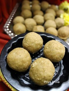 Atta badam ladoo - an Indian sweet made with wheat flour, sugar, ghee and goodness of almonds..