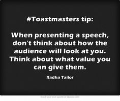 tip: When presenting a speech, don't think about how the audience will look at you. Think about what value you can give them. Effective Communication, Communication Skills, Speech And Debate, Public Speaking Tips, Public Speaking Activities, Presentation Skills, Anxiety Quotes, Own Quotes, Meaningful Words