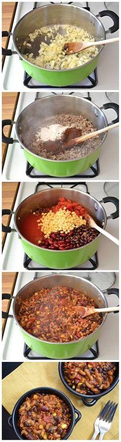 One Pot Chili Pasta Recipe