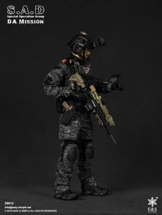 #Easy&Simple#1/6#S.A.D /Special Operation Group Military Action Figures, Future Soldier, Green Beret, Airsoft, Scale Models, Cool Toys, Diorama, Warriors, Group