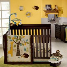 In the Forest 7 Piece Baby Crib Bedding Set by Graco