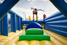 inflatable obstacle course 5k - Google Search