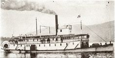 1893 S.S. Aberdeen The first paddle wheeler to service Kelowna