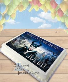 Maleficent Edible Frosting Image Cake Topper [SHEET]
