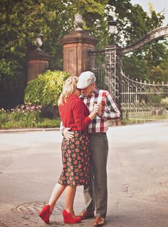 The Notebook engagement photos, Allie and Noah dancing in the street