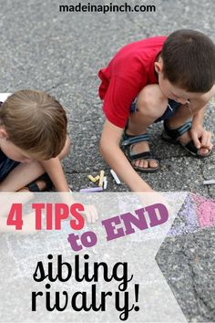 There's just something about siblings and fighting. But as a parent, it can be exhausting to listen to. End sibling rivalry with 4 simple but effective tips that help change the focus from jealousy to empathy and cooperation. #siblingrivalry #siblings #siblingproblems #parenting