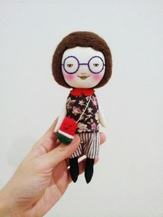 Handmade smilling doll