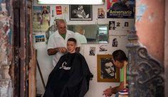 Barber shop in Old Havana