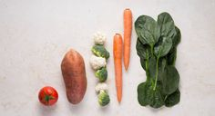 Visual guide of serving sizes. Vegetables.
