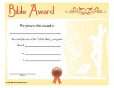 bible award vacation bible schoolprintable certificateschurch ideassunday schoolbible lessons