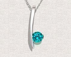 Topaz Necklace Paraiba Topaz Necklace Blue Green by VerbenaPlace - StyleSays