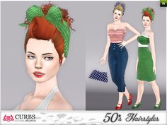 Curbs 50s hairstyles 05 v2 by Colores Urbanos for Sims 3 - Sims Hairs - http://simshairs.com/curbs-50s-hairstyles-05-v2-by-colores-urbanos/