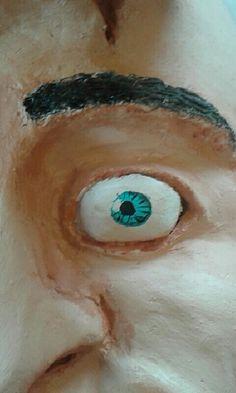 Dit is het oog van mijn masker. Ik heb hiervoor een penceel gebruikt.