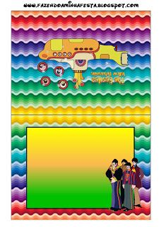 Imprimibles Submarino Amarillo (Beatles) 5.