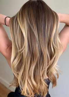 Gorgeous Highlights of Balayage Hair Colors for Women 2019 Amazing Highlights of Balayage Hair Color Brown Hair With Blonde Highlights, Blonde Hair Looks, Brown Hair Balayage, Hair Color Balayage, Ombre Hair, Balayage Highlights, Brown Highlighted Hair, Blondish Brown Hair, Brown Lob