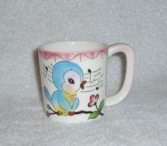 Vintage Lefton Bluebird Mug.