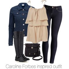 Caroline Forbes inspired outfit/The Vampire Diaries by tvdsarahmichele on Polyvore featuring Vero Moda, Joules, Timeless, Pieces, CandiceAccola, carolineforbes and thevampirediaries