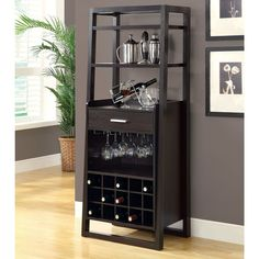 Interior , Mini Home Bar Ideas for Super Way to Entertain Your Guests : Outstanding Mini Bar Idea Wth Multipurpose For Wine Rack