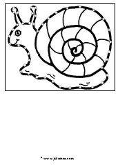 borduurkaart slak » Juf Sanne
