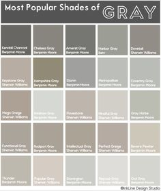 Gray Shades there's no such thing as a boring shade of gray. check out this