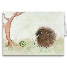 It's incredibly tempting to peck this kiwi with my beak. But then I remember that I am also a kiwi.