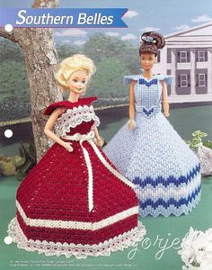 Southern Belles Gowns, Annie's pc patterns fit Barbie dolls