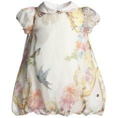 Baby Girls Floral Silk Bubble Dress - ROBERTO CAVALLI SS13 - I have some gorgeous silk scarves which I never wear ... hmm. Yep, this belongs in 'Stuff for projects'.