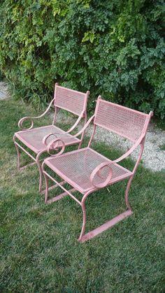 Wrought Iron Patio Garden Conservatory Furniture Suite Retro