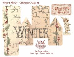 Wings of Whimsy Christmas Cottage 24 of 25 Free Printable 3d Cottage Printing all 25 now for my next year tree :-)