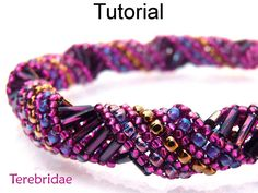 Beading Pattern Tutorial Bracelet Necklace - Russian Spiral Stitch - Simple Bead…