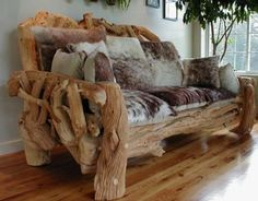 Rustic Log Couch