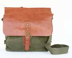 The perfect leather and canvas bag for the indecisive - converts to a backpack or crossbody in a snap!