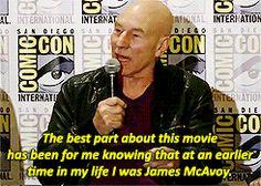 Sir Patrick at Comic Con.
